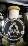 Bonneville T120, Thruxton 1200 TPS Ace Cafe Racer Cover Kit (2 Covers) Throttle Position Sensor Covers.